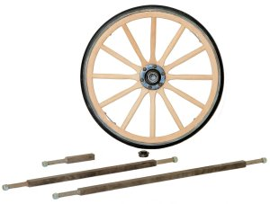 Wood Wagon Wheels and Axles